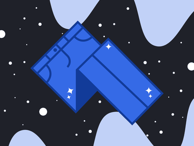 Bedazzled jeans! vector illustration hikuu kuuhubbard