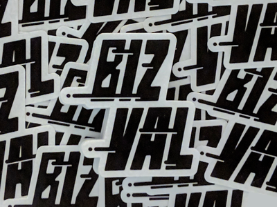 BizVal stickers bizval lettering vector illustration hi-kuu kuuhubbard