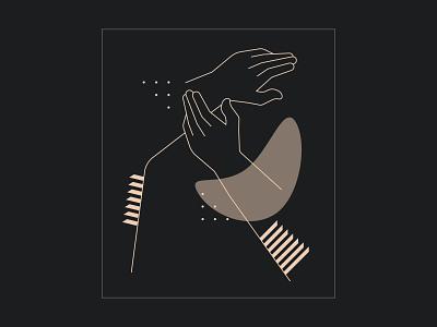 Old hands are New hands pattern hands vector illustration hikuu hi-kuu kuuhubbard