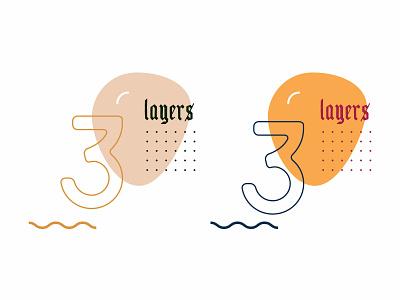 3 with dot grid typography branding illustration kuuhubbard