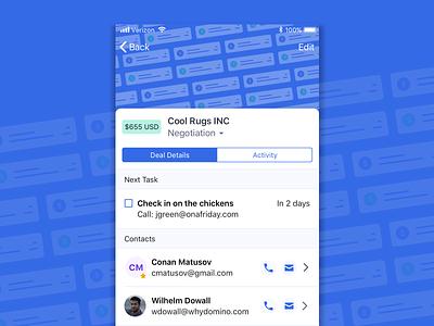 DealsCRM for iOS ios mobile crm activecampaign hi-kuu kuuhubbard