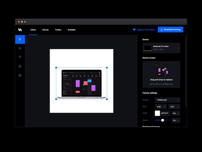 Animockup — Animated Mockup Maker mockup website webapp ui tool gif animatedgif figma editor design tools design dark ui dark animated after effects