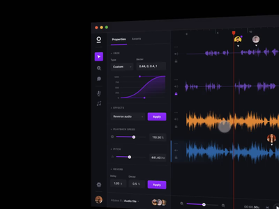 Sonuum — The web-based collaborative audio editor gif figma upcoming coming soon tool website dark audio player music animated after effects product startup webapp ui web collaborative editor audio
