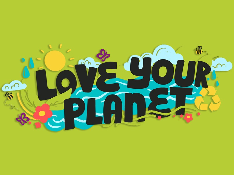 Love Your Planet green planet love your planet earth day earth digital typography handlettering lettering procreate design illustration