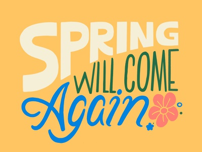 Spring handdrawn ipadproart procreate app hope springtime spring design procreate art digital typography type handlettering lettering procreate