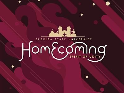 FSU Homecoming 2017 homecoming state florida unity spirit theme typography type graphic vector design