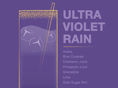 Ultra Violet Rain drink illustrator ultra violet pantone vector