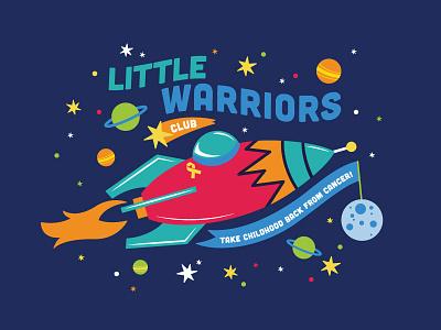 Little Warriors Club illustration vector design shirt threadless imagination warriors spaceship children childhood stars space