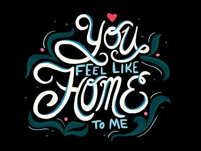 Home design typography design art love home type art type digital drawing procreate handlettering lettering