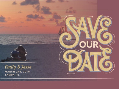 Save our Date vector type typography love invitation layout handlettering lettering date save wedding design