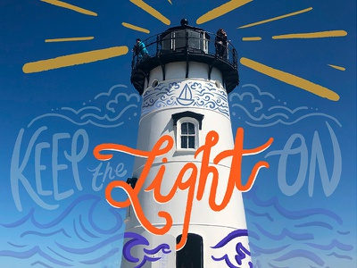 Lighthouse mixedmedia photo light marthas vineyard lighthouse digital typography procreate handlettering lettering type design