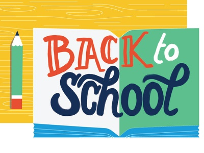 Back to School book back to school trends shopping data school vector illustration digital procreate design infographic lettering handlettering typography