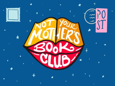 Not Your Mother's Book Club book club reading women club book lips logo branding digital typography handlettering procreate lettering type design illustration
