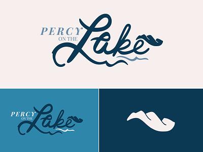 Percy on the Lake real estate logo real estate south carolina mountains lake logo branding digital typography type handlettering procreate lettering design