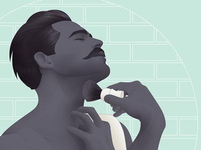 Shaving  illustration