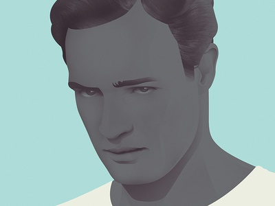 Marlon Brando illustration