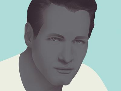 Paul Newman illustration