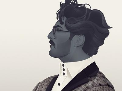 Mr Black  illustration