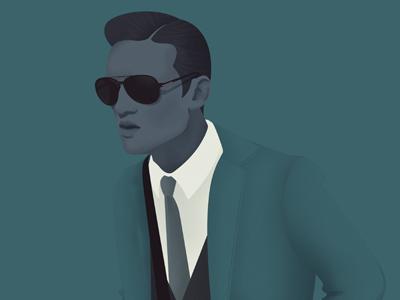 Mr Hyde II illustration menswear fashion editorial digital