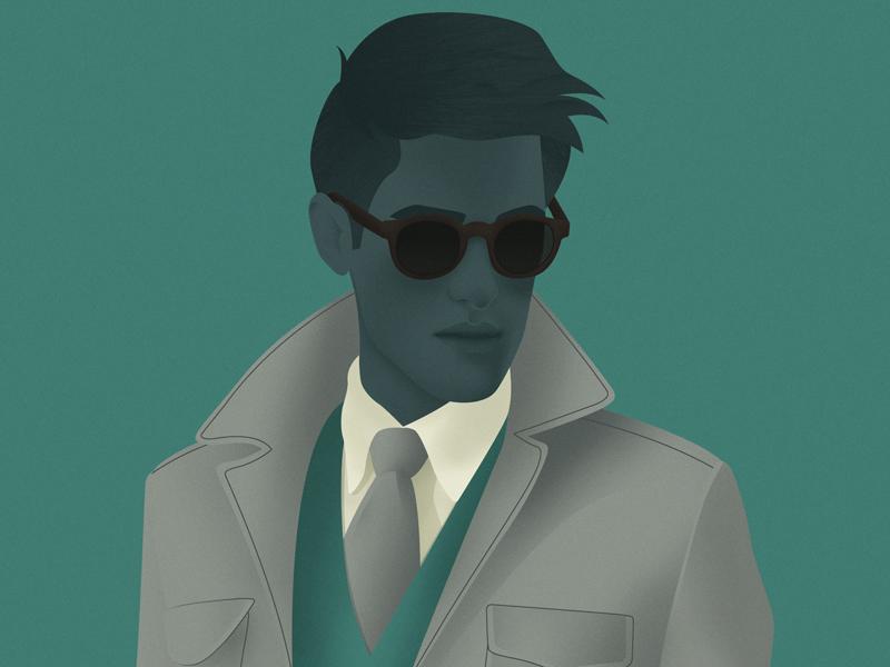Ryan illustration menswear fashion editorial digital