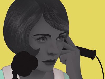 Hello... operator?  illustration design vintage 1920 woman flapper
