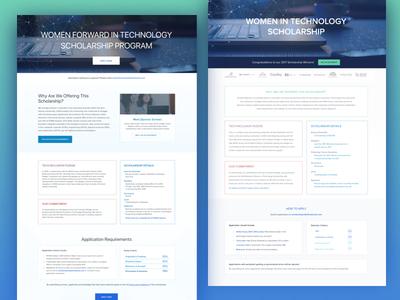 Women in Technology Web Landing Page