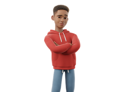 Mike is going back to Uni afro black 3d character kit ui 3d animation character cartoon 3d animation