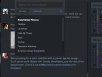 Dark chat UI