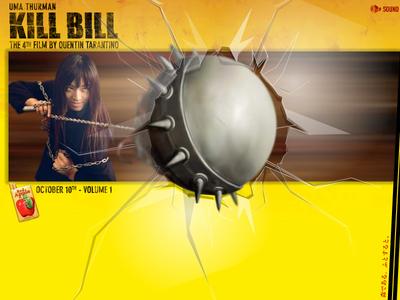 Kill Bill Ball & Chain illustration website flash