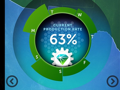 Solar App Production illustration mobile app