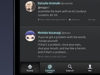Twitter Dark UI Concept twitter ios black icon dark concept interface ui