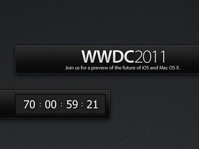 WWDC Countdown Widget redesign apple mac widget black wwdc ui