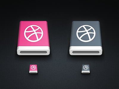 dribbble removable device dribbble removable device pink gray icon mac drive hdd