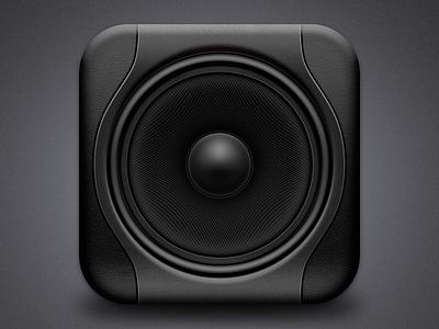 Studio monitor icon ios icon speaker black retina music