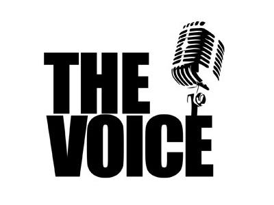 The Voice Logo black  white white black microphone branding logo