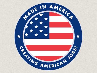 Made In America Logo logo made in america gaf america american flag ballard ballardstudio