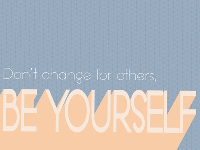 Be Yourself illustrator bold illustration graphic design design colorful inspiration inspo type typography