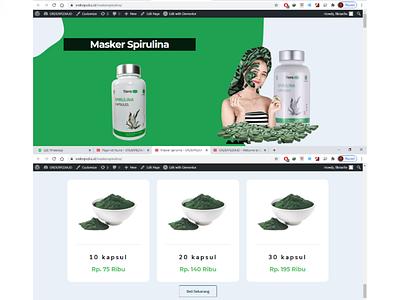 Landing Page - Spirulina (Orderpedia.id) ui ux icon typography design branding