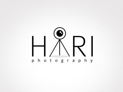 Hari Photography branding lens foto video camera photo tripod icon photography logo
