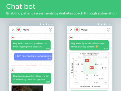Chat bot automation bot compliance conversational android ui ux ai health cards chat bot chat