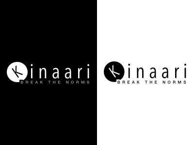 Kinaari Logo accessories dresses tops empowerment women black black and white png vector logo brand fashion