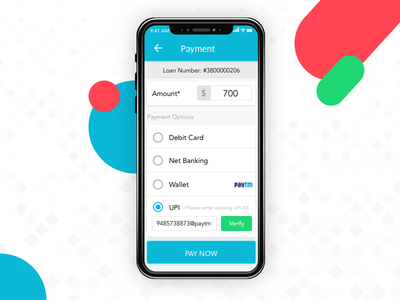 UPI Payment apple 2d vector app loan paytm payu flat wallet payment upi money