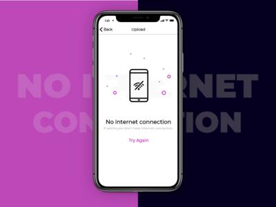 No Internet Connection illustration ux ui mobile apple app empty error ios interaction