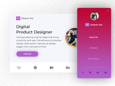 Portfolio Contest on uplabs responsive ux ui card illustration graphic web mobile ios design portfolio