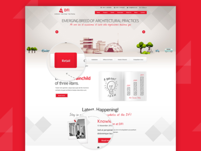 DFI landing page dropbox 2d ux ui webpage landingpage web illustration vector design