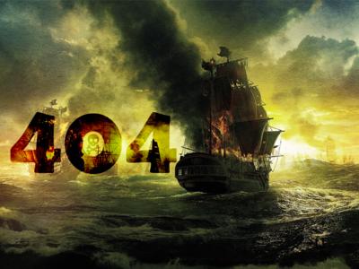 Pirate 404 page ux ui design 2d landingpage webpage web illustration vector server not found error 404