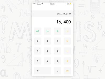 Calculator white uplabs number illustration design app mobile apple ios calculator