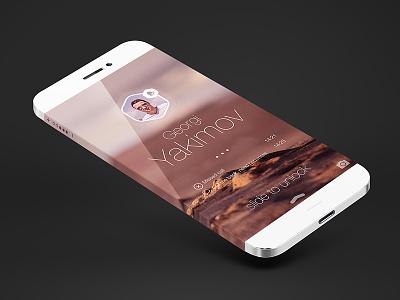 Ios7 lock screen notification clean magneticlab mobile flat iphone 6 lock screen ios 7