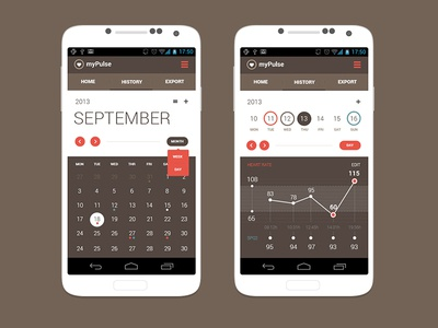 Android App Concept   Calendar View
