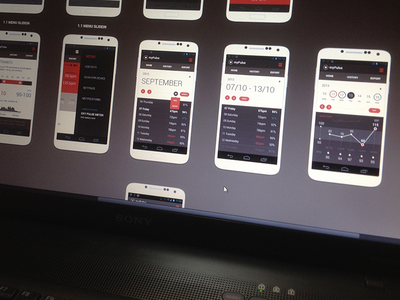 Pulse App wireframe map mypulse ux magnetic lab clean flat mobile app design statistic android